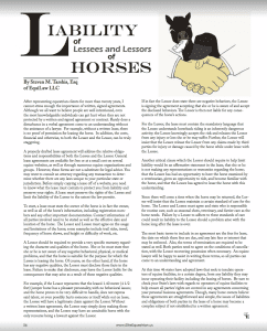 leasing a horse, horse lease agreement